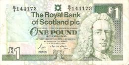 BILLETE DE ESCOCIA DE 1 POUND DEL AÑO 1990  (BANKNOTE) - [ 3] Escocia