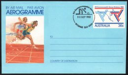 AUSTRALIA BRISBANE 1982 - XII COMMONWEALTH GAMES - BOWLS - AEROGRAMME: ATHLETICS / SPRINT - Bowls