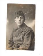 Militaria Carte Photo Soldat Uniforme Képi Col N°29 Cor De Chasse - Uniformes