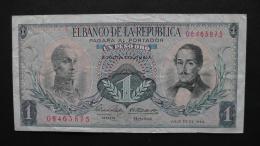Colombia - 1 Peso Oro - 1966 - P 404c - VF  - Look Scan - Kolumbien