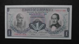 Colombia - 1 Peso Oro - 1968 - P 404d - Unc  - Look Scan - Kolumbien