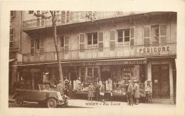 03-183  CPA VICHY  RUE LUCAS  TACOT Souvenirs Parfumerie Des Bains Coutellerie Faure    Pédicure Animation  Belle Carte - Vichy