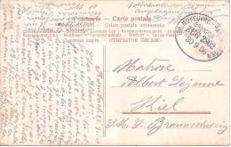 MOSELLE - Cachet Ambulant GR.MOYEUVRE - HAGENDINGEN Sur Carte En Franchisepour Un Marin - Marcophilie (Lettres)