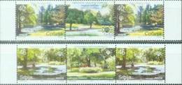 SRB 2007-192-3 EUROPEAN NATUR PROTECTION, SERBIA, 2 X 2v + Labels, MNH - Bäume