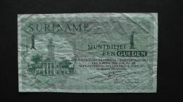 Suriname - 1 Gulden - 1971 - P 116b - F  - Look Scan - Suriname