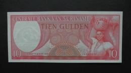 Suriname - 10 Gulden - 1963 - P 121 - Unc  - Look Scan - Suriname