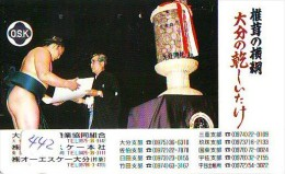 Télécarte  Japon * SUMO (442)  LUTTE  LUTTEURS WORSTELEN * JUDO * Kampf Wrestling *  LUCHA * PHONECARD JAPAN - Sport
