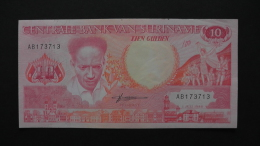 Suriname - 10 Gulden - 1986 - P 131a - XF - Look Scan - Surinam