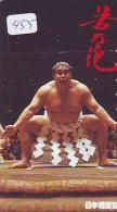 Télécarte  Japon * SUMO (455)  LUTTE  LUTTEURS WORSTELEN * JUDO * Kampf Wrestling *  LUCHA * PHONECARD JAPAN * - Sport