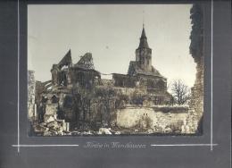 LORRAINE - 55 - MEUSE - MONTFAUCON D'ARGONNE - 360 Habitants - Eglise Et Village En Ruines Occupation Allemande - Guerre 1914-18