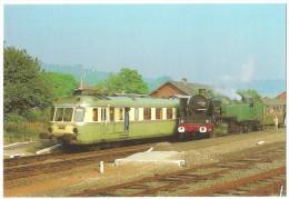 Dépt 24 - SAINT-LAURENT-SUR-MANOIRE - NIVERSAC - RGP2 X-2700 En Livrée Verte (autorail) Et 141-TD-740 (train Vapeur)gare - Andere Gemeenten