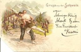 GRUSS AUS DER SCHWEIZ  .   En L' état Hélas ......  1899 - BE Berne