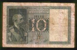 BIGLIETTO DI STATO REGNO D' ITALIA DA 10 LIRE - Anno 1944 - [ 1] …-1946 : Koninkrijk