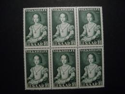 Saar 1954 Michel  355  Blok A 6 - BRD