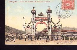 CARTAGENA     -                   CIRCULEE  EN  1906 - Spain