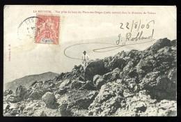 Cpa Ile De La Réunion  Vue Prise Du Piton Des Neiges Dans La Direction Du Volcan     APJ13 - La Réunion