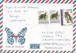 Ethiopia 2011 Bonga Postal Agent Woodpecker Antilope Bushbuck Cover - Ethiopië