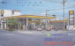 Télécarte Japon - Essence Pétrole SHELL Station Service - Oil Tank Japan Phonecard - Benzin Tankstelle - 50 - Petrole