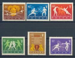 BL1-45 POLAND 1963 YV 1271-1276 WORLD CHAMPIONSHIP ESCRIME, FENCING, SCHERMEN MNH, POSTFRIS, NEUF**. - Schermen