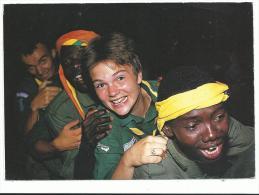 Scoutisme , Beau Plan Animé Gros Plan Sur Enfants , Carte Photo, Voyagée En 1993 , Pas D' éditeur - Scoutismo