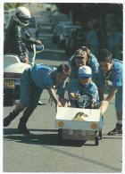 Scoutisme , Beau Plan Animé Gros Plan Sur Jeunes Enfants , Voiture Miniature Motard ,voyagée En 1993 , Pas D' éditeur - Scoutismo