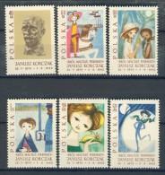 BL1-48 POLAND 1963 YV 1222-1227 MARIA KONOPNICKA, ECRIVAIN, WRITER, SCHRIFTSTELLER, MNH, POSTFRIS, NEUF**. - Puppen