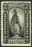 US PR9 Mint Hinged 2c Newspaper Stamp 1875 - Newspaper & Periodical