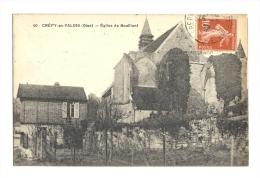 Cp, 59, Crépis-en-Valois, Eglise De Boulliant, Voyagée 1922 - Crepy En Valois