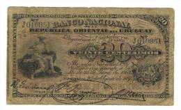 URUGUAY, 20 Centesimos 1887, G. - Uruguay