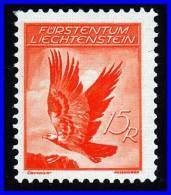 LIECHTENSTEIN 1935 SC# C10 GOLDEN EAGLE BIRDS VF LH CV$15.00 - Unused Stamps