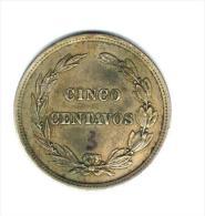 Ecuador, 5 Centavos , 1918, VFXF (RARE) - Ecuador