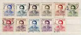Maroc Scott N°75.77.78.79.80.111.81.82.83.84oblitérés   (164) - Maroc (1956-...)