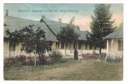 Manastirea Tiganesti Chiliile Din Stanga Bisericei. - Rumania