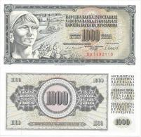 Yugoslavia 1000 Dinara 1981. UNC   P-92d  DO Serie - Yougoslavie