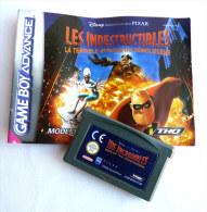 JEU NINTENDO GAME BOY  ADVANCE - Disney Pixar THE INCREDIBLES Rise Of The Underminer AVEC LIVRET - Nintendo Game Boy