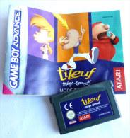 JEU NINTENDO GAME BOY  ADVANCE -TITEUF MEGA-COMPET' AVEC LIVRET - Nintendo Game Boy