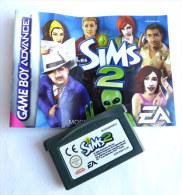 JEU NINTENDO GAME BOY  ADVANCE - The SIMS 2 AVEC LIVRET - Nintendo Game Boy