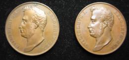 M00750  RARE, Deux Médailles, Ouverture Du Canal De Gand à Terneuze, Guillaume I, Braemt, 1827 (42 G. Chaque) - Royaux / De Noblesse