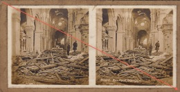 Photo Stereo Guerre 14-18 WW1 Albert Basilique - Guerre, Militaire