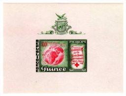 TIMBRE - GUINEE (REPUBLIQUE DE) 1963 - CENTENAIRE DE LA CROIX-ROUGE 1863-1963 - BLOC NON DENTELE ETAT NEUF - Guinée (1958-...)