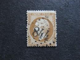B).  N° 21b, 1° Choix, Oblitéré . Cote = 15 Euros. - 1862 Napoleon III