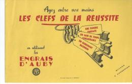 ENGRAIS  D' AUBY               -   Ft  =  21 Cm X 13.5 Cm - Buvards, Protège-cahiers Illustrés