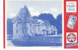 Piles   MAZDA     - Château De St André D´ Hébertot   - Calvados          -   Ft  =  21 Cm X 13.5 Cm - Electricité & Gaz