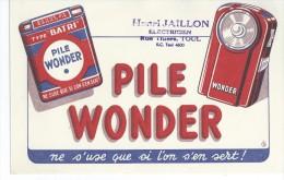 Piles   WONDER       -   Ft  =  21 Cm X 13.5 Cm - Electricité & Gaz