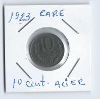 LUXEMBOURG-10 Cent. De 1923  ACIER Assez Rare SUP - Luxembourg