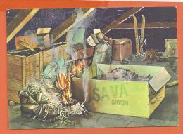 X125, Savon SAVA, Grenier, Feu, Incendie, Les Cendres Contiennent Souvent Des Braises, Non Circulée - Advertising