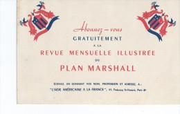 Revue Mensuelle  Du PLAN  MARSHALL      -   Ft  =  21 Cm X 13.5 Cm - Buvards, Protège-cahiers Illustrés