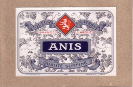 ETIQUETTE - ANIS - LIQUEUR SUPERIEURE - QUALITE SURFINE - LION - EDITEUR GOUGENHEIM - Etiquettes