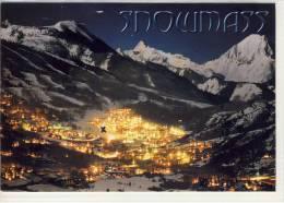 SNOWMASS - ASPEN, Colorado     jumbo card, machine stamp
