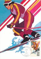 D13743 CARTE MAXIMUM CARD 1984 USA - SKIING LAKE PLACID OLYMPICS  CP ORIGINAL - Skiing